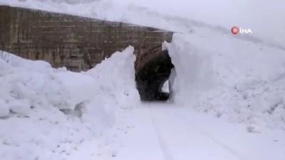 Tunceli kara teslim oldu...Kar kalınlığı yer yer 2 metreye ulaştı