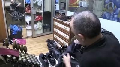 Eski ayakkabılar lostra salonunda yenileniyor - TRABZON