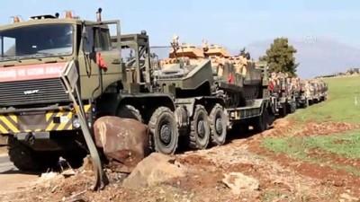 askeri birlik - Suriye sınırına tank ve zırhlı araç sevkiyatı (3) - HATAY