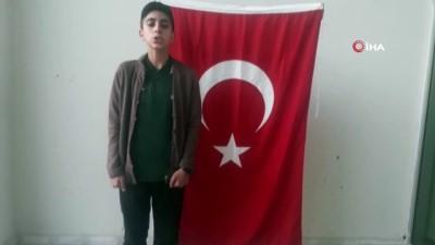 Çocuklardan, Barış Pınarı Harekatı'na katılan Mehmetçiğe videolu destek
