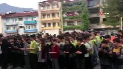 cami imami -  Mehmetçikler için okullardan dualar yükseldi