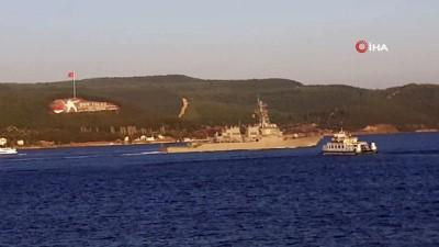 troy -  ABD savaş gemisi 'USS Porter' Çanakkale Boğazı'ndan geçti
