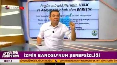 Beyaz TV sunucusundan İzmir Barosu'na çok sert tepki