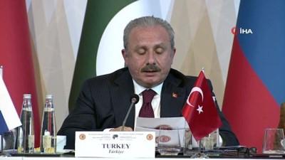 TBMM Başkanı Şentop, 3. Parlamento Başkanları Konferansının kapanış konuşmasını gerçekleştirdi