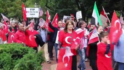 - Türklerden Beyaz Saray önünde Barış Pınarı Harekatı'na destek gösterisi