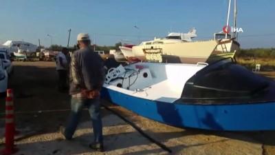 Ayvalık'ta tekne battı...1 çocuk öldü 33 göçmen kurtarıldı, bir bebek aranıyor