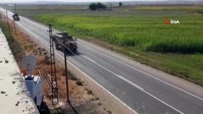 Suriye sınırına zırhlı araç sevk edildi