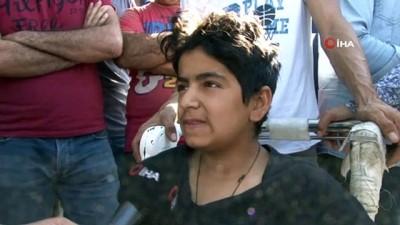 Suriye tarafından atılan havan topu saldırısında yaralanan çocuk o anları İHA'ya anlattı