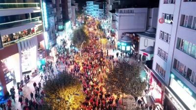 il baskanlari -  Bolu'da yüzlerce kişi Barış Pınarı Harekatı'na destek için yürüdü