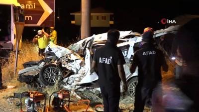 4 kişinin öldüğü feci kazanın güvenlik kamera görüntüleri ortaya çıktı