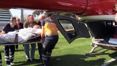 Aort damarı yırtılan hasta helikopter ambulansla sevk edildi - KIRKLARELİ
