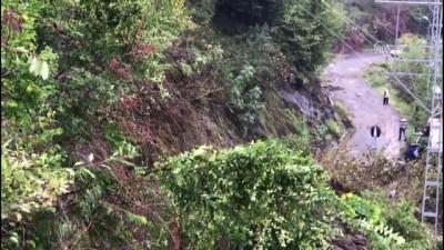 Giresun'daki şiddetli yağış