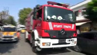 Hatalı park itfaiye aracının geçişini engelledi, yangını vatandaşlar söndürdü