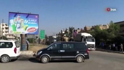 - Teröristler Kamışlı'dan çekilen ABD askeri konvoyunu taşladı