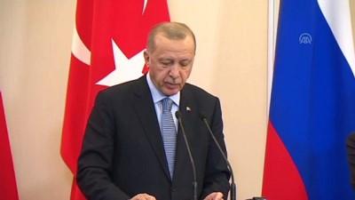 Erdoğan: '23 Ekim öğlen 12.00'den itibaren 150 saat içinde YPG'li teröristler ve silahları, 30 kilometrenin dışına çıkarılacak' - SOÇİ
