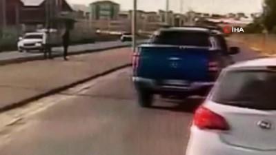 Öğrencilerin üzerine kamyonet sürdü, ''şaka yaptım'' dedi