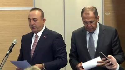 Türkiye-Rusya ortak bildirisi - Dışişleri Bakanı Çavuşoğlu - SOÇİ
