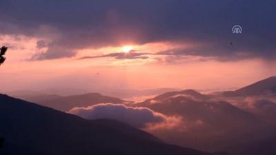 Zigana Dağı'nda sis ve gün batımı güzelliği - GÜMÜŞHANE