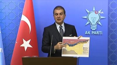 AK Parti Sözcüsü Ömer Çelik: '32 km'lik derinliğe geldik. Buradan bu terör örgütü unsurlarının çıkarılması ABD'nin sorumluluğunda. Çıkardık diye bize yazılı olarak bildirdiler. TSK buradan çekilmeyecek'