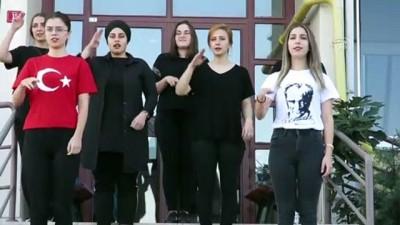 Mehmetçiğe işaret diliyle selam yolladılar - KIRKLARELİ