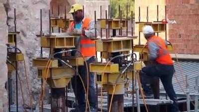 Hasankeyf'te son eser Er-Rızk Camii'nin kaldırma işlemlerinin ikinci aşaması başladı