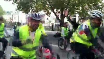 Bisikletçiler kök hücre bağışı için pedal çevirdi (2) - ANKARA