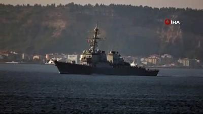 troy -  Amerikan savaş gemisi Çanakkale Boğazı'ndan geçti