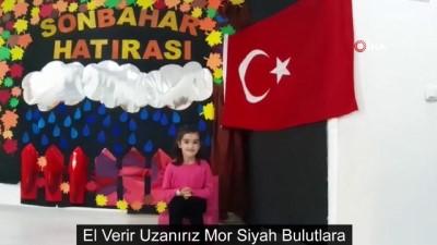 Anaokulu öğrencilerden Mehmetçiğe anlamlı destek