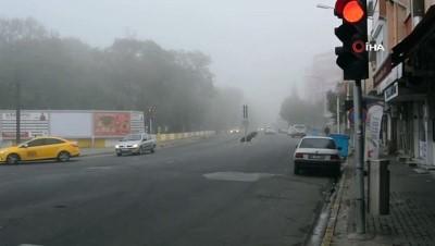 Lüeburgaz'da yoğun sis