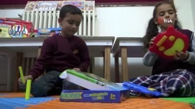Köy çocukları ilk defa zeka oyunlarıyla buluştu