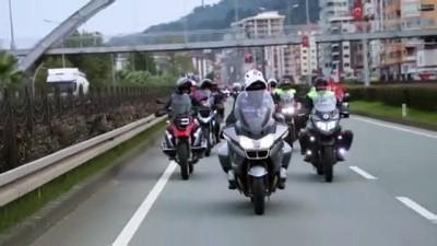 Motosiklet ve off-road araçlarıyla kortej - RİZE