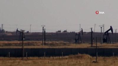 Suriye'deki petrol bölgesinde ABD devriyesi böyle görüntülendi