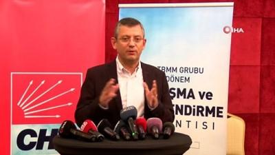 """CHP Grup Başkanvekili Özel: """"Grup iç yönetmeliğinde 52 maddede değişlik yaptık"""""""
