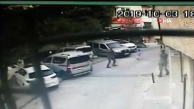 silahli catisma -  Şişli'de sokak ortasında silahlı çatışma kamerada
