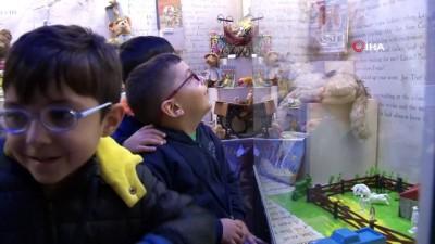 kitap okuma -  - Kartallı çocuklar Masal Müzesi'ni ziyaret etti