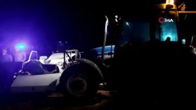 Kahramanmaraş'ta traktör ile otomobil çarpıştı: 2 yaralı