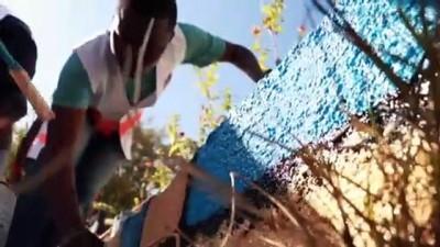 Yabancı öğrenciler okul bahçesini geleneksel oyunlar için hazırladı - ELAZIĞ