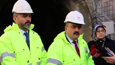 Tarım ve Orman Bakan Yardımcısı Metin, Karadere Tüneli'nde inceleme yaptı - BOLU