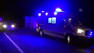 Domaniç'te devrilen odun yüklü tırın sürücüsü yaralandı - KÜTAHYA