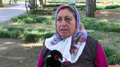 Evinin önünden akan atık su nedeniyle komşusu tarafından dövülen kadının gözyaşları