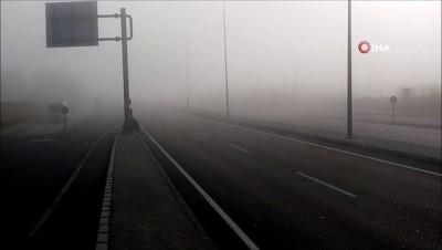 İstanbul-Çanakkale yolunda yoğun sis