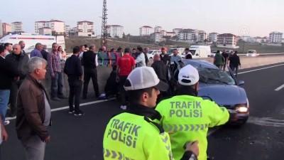 Otomobil park halindeki kamyona çarptı: 1'i ağır 3 yaralı - TEKİRDAĞ