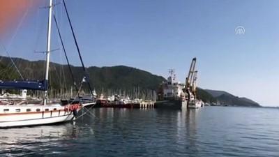 Marmaris'teki lüks motoryatlar kargo gemisiyle İstanbul'a gönderildi - MUĞLA