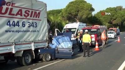Otomobil kamyona arkadan böyle çarptı: 1 ölü