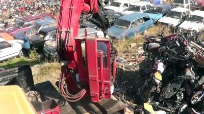 Trafikten men edilen 418 motosiklet geri dönüşüme gönderildi - AFYONKARAHİSAR