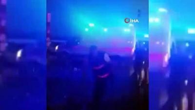 1 kişinin hayatını kaybettiği 4 kişinin yaralandığı feci kazanın görüntüleri ortaya çıktı
