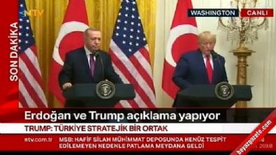 Erdoğan ve Trump'tan ortak basın açıklaması!