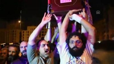 (TEKRAR) Hayatını kaybeden gösterici için Beyrut'ta sembolik cenaze merasimi - BEYRUT