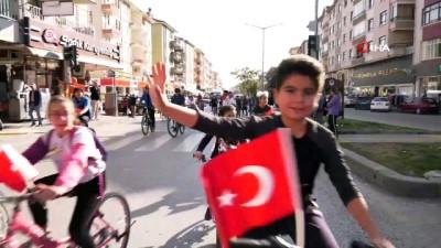 Çubuk'ta Atatürk anısına pedal çevirdiler