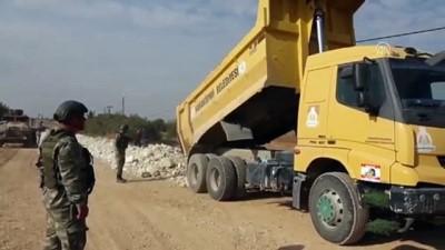 MSB, Türkiye'nin Tel Abyad'daki yol yapım çalışmalarının görüntülerini paylaştı - ANKARA